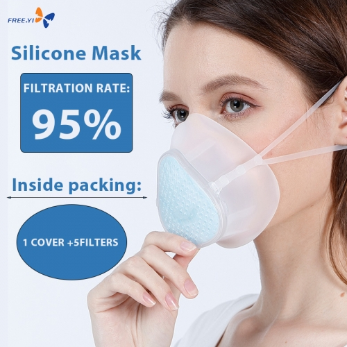 95% Filtration Rate Silicone Mask