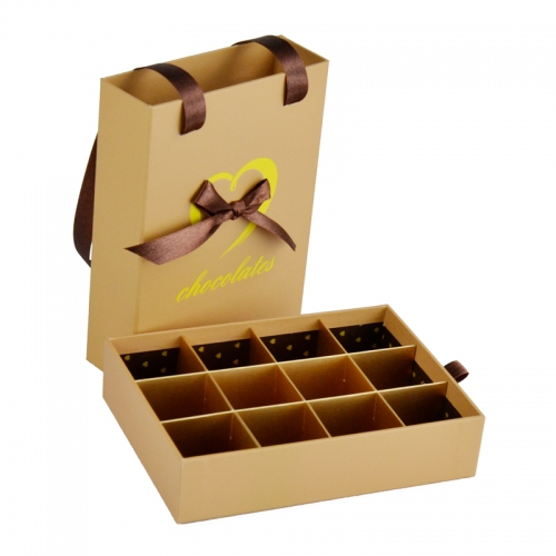 Hand-held chocolate packaging box