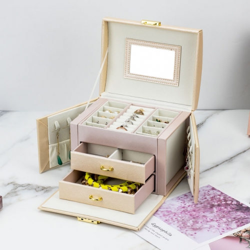 3 layers drawer jewelry storage box
